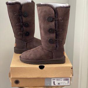 UGG Australia Bailey Button Triplet Boots NIB!